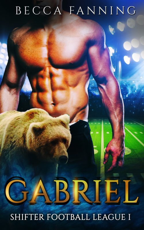 Gabriel (BBW Shifter Secret Baby Football Romance) (Shifter Football League Book 1)